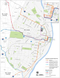 Northside-Southside MetroLink Alignment Map
